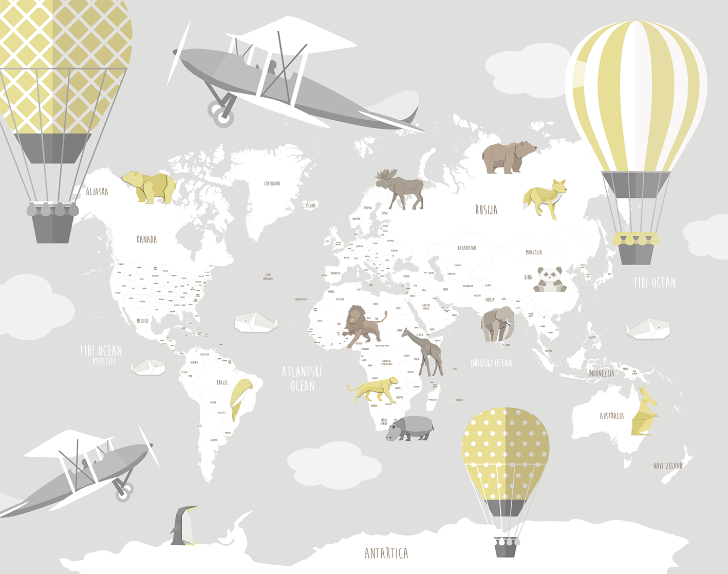 Airplanes_and_balloons_and_map_wallpaper